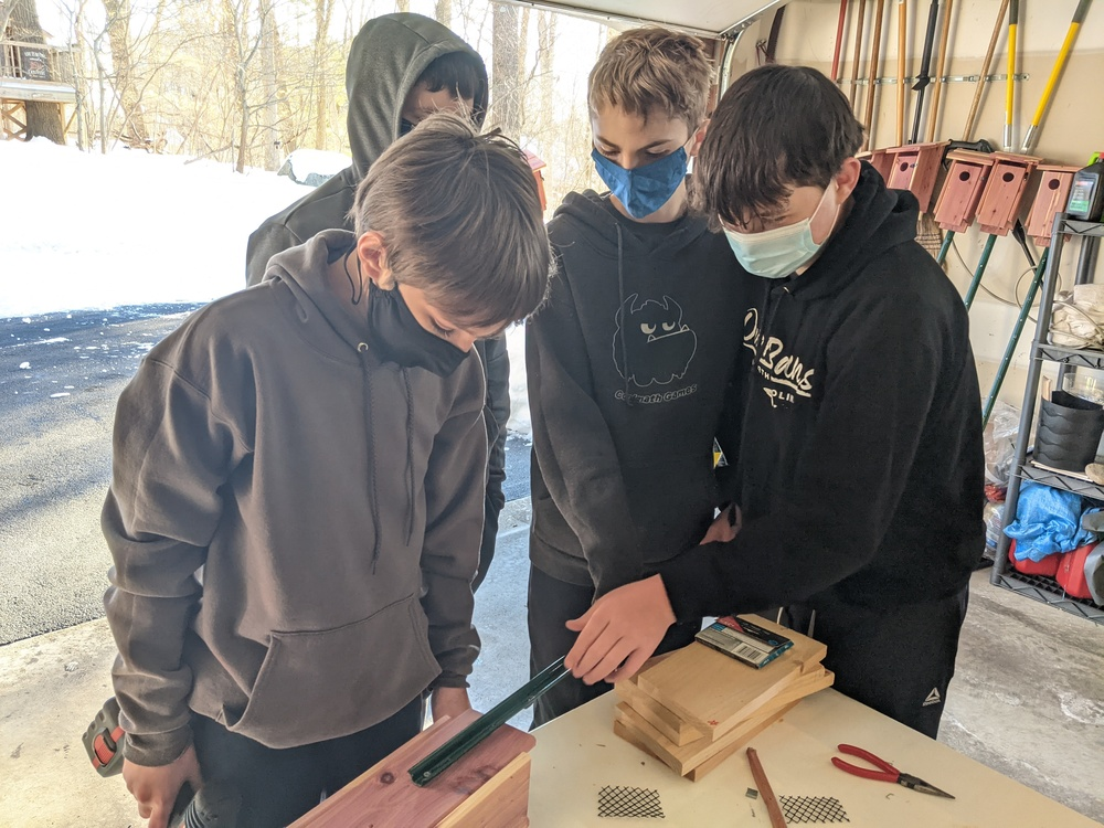 NJHS works with PORE to create birdboxes