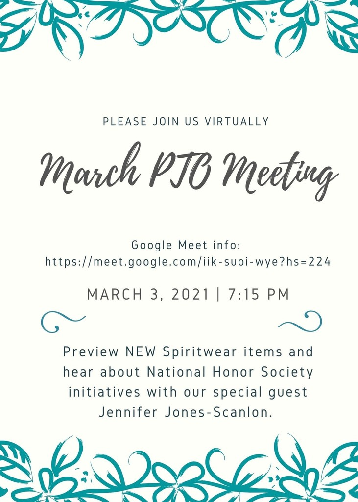 March PTO Meeting
